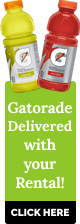 Gatorade Delivered with your Rental