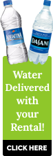 Water Delivered with your Rental