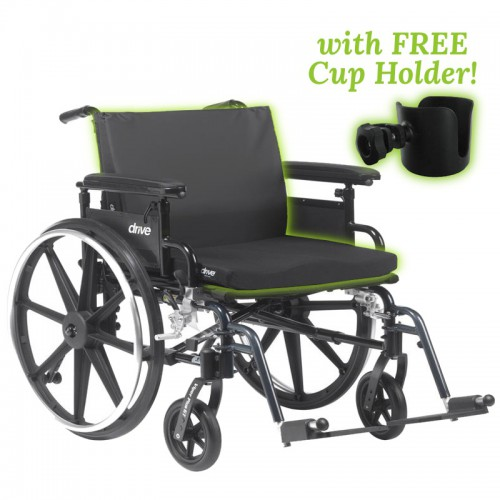 Large Wheel Chair with Cushion Capacity 400 lbs Rental: LargeWheelchairPads