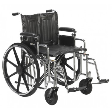 Heavy Duty Wheelchair - Capacity 400 lbs